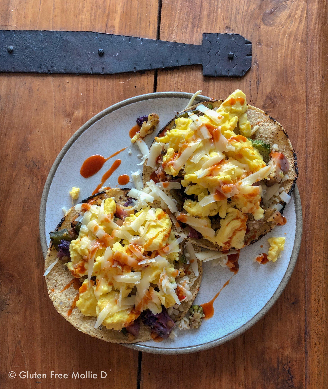 Homemade breakfast tacos.