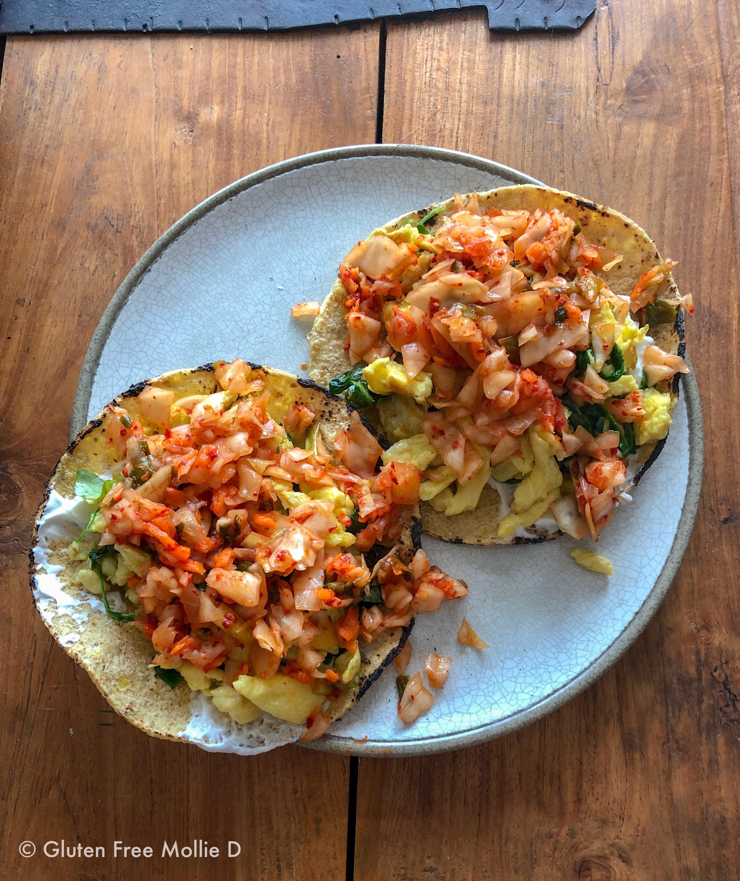 Sunday morning breakfast tacos.