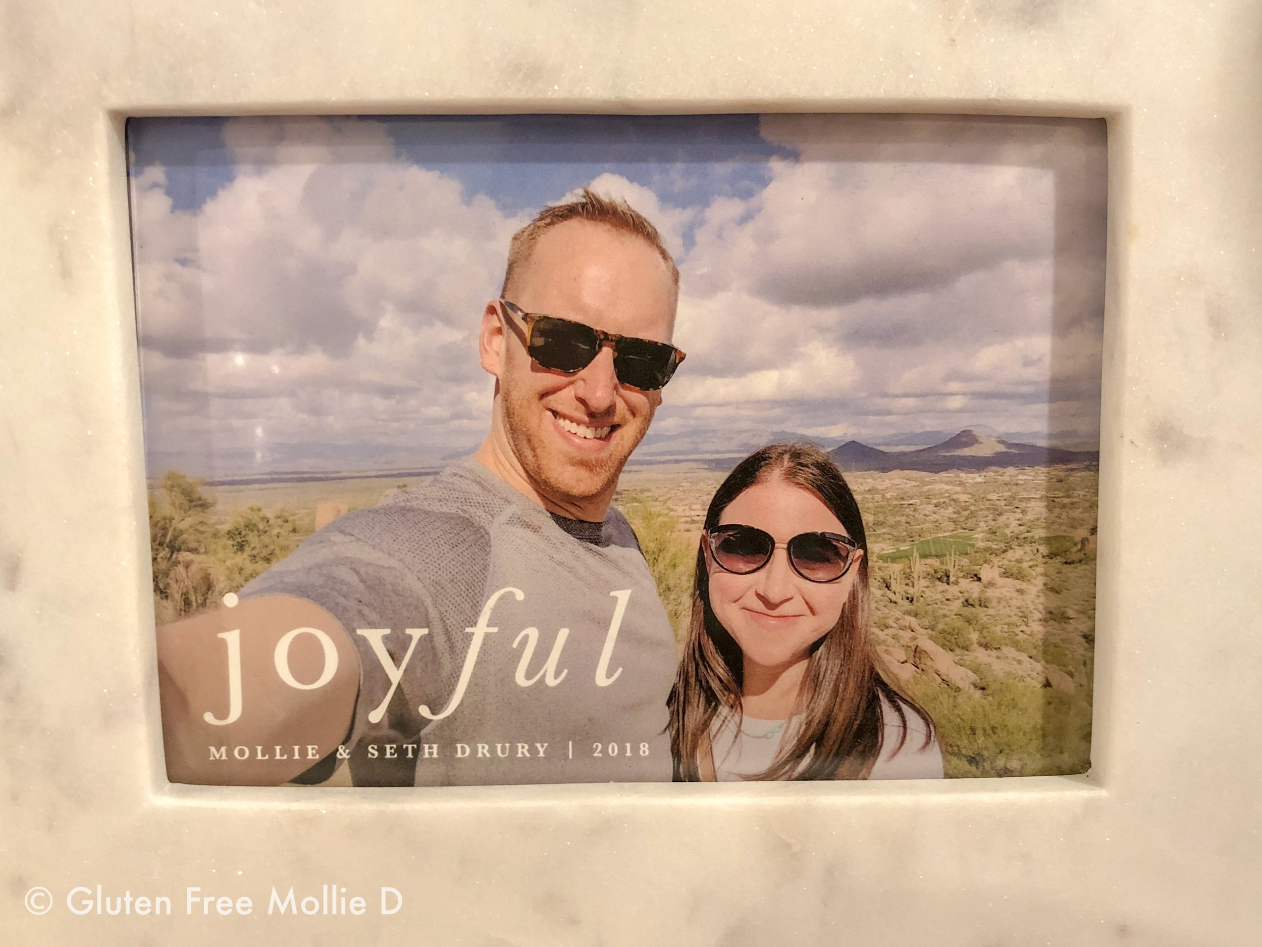 Our holiday card for 2018. Photo taken in Scottsdale, Arizona.