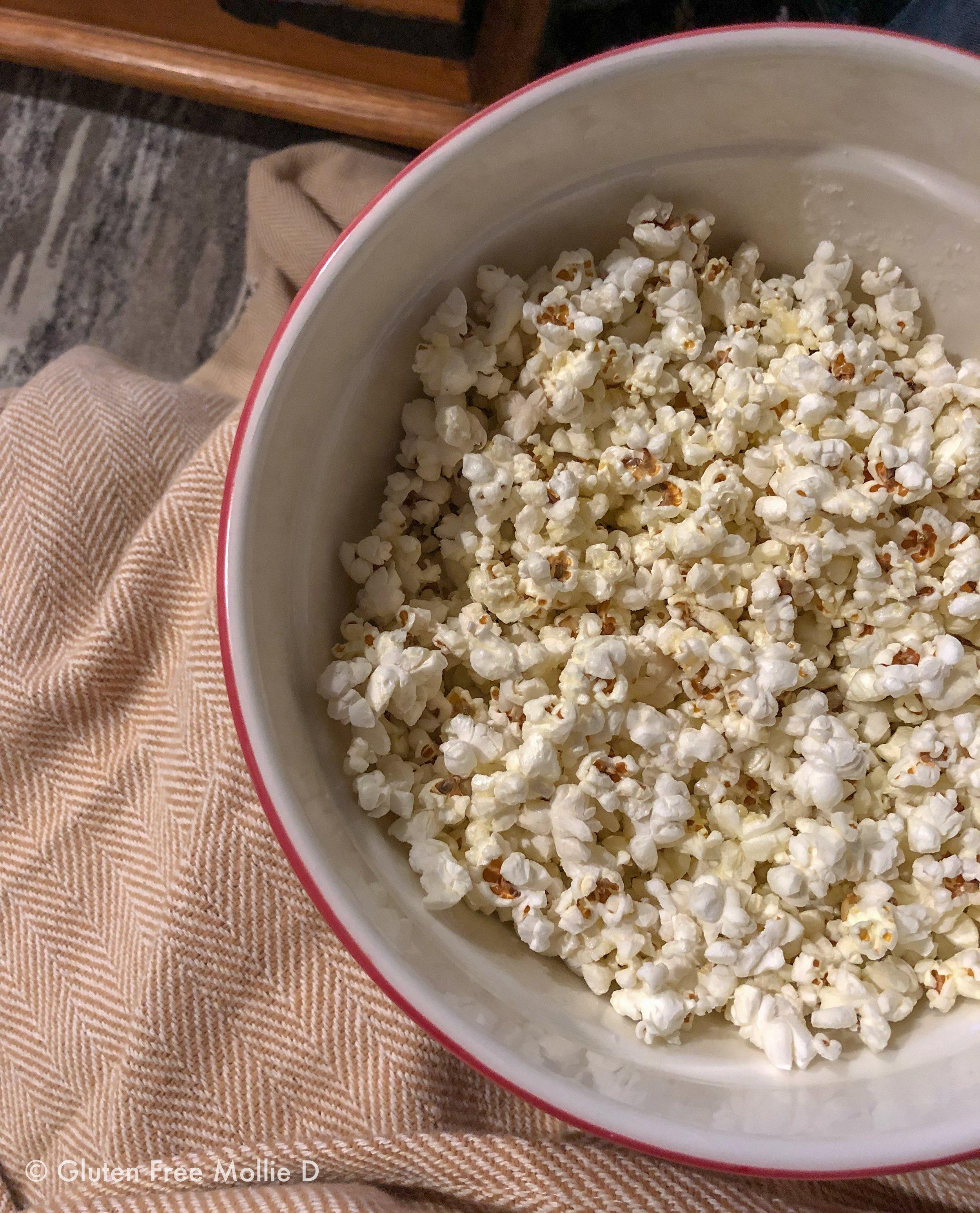 Super Bowl snack. I added butter and salt. ;)