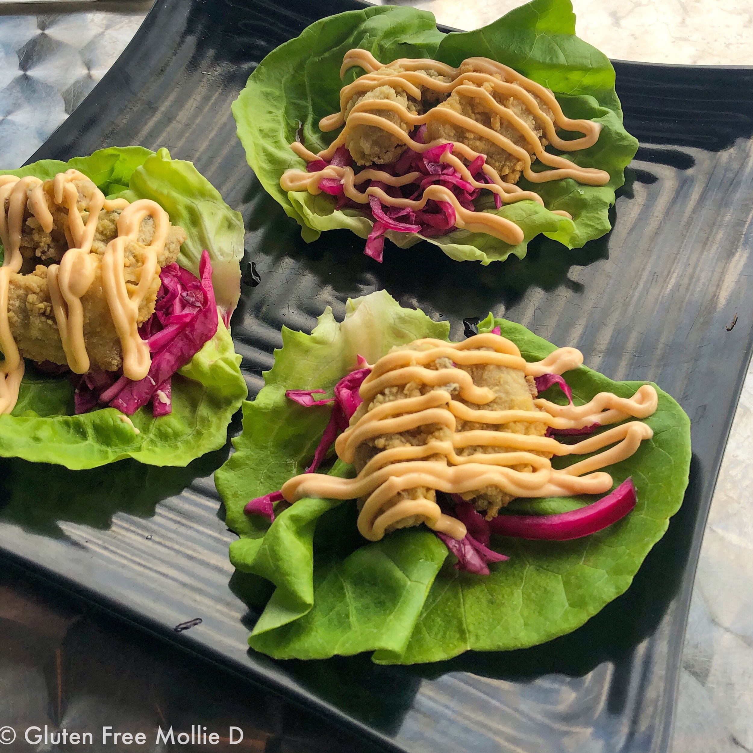 The Trap: Fried oyster lettuce cups - a new favorite!