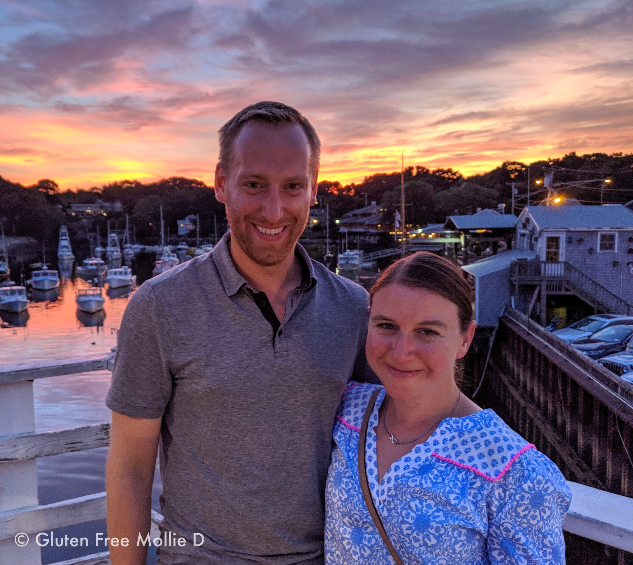 Thank you to the kind stranger who offered to take this photo of us in Maine. Look at that sky! 😍
