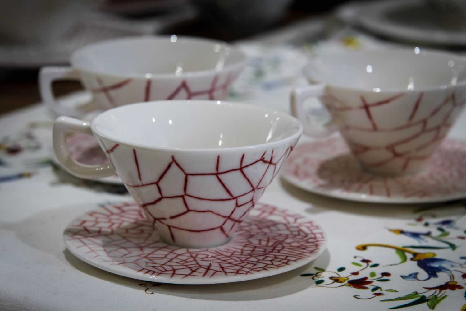 Gien Cups and Saucers