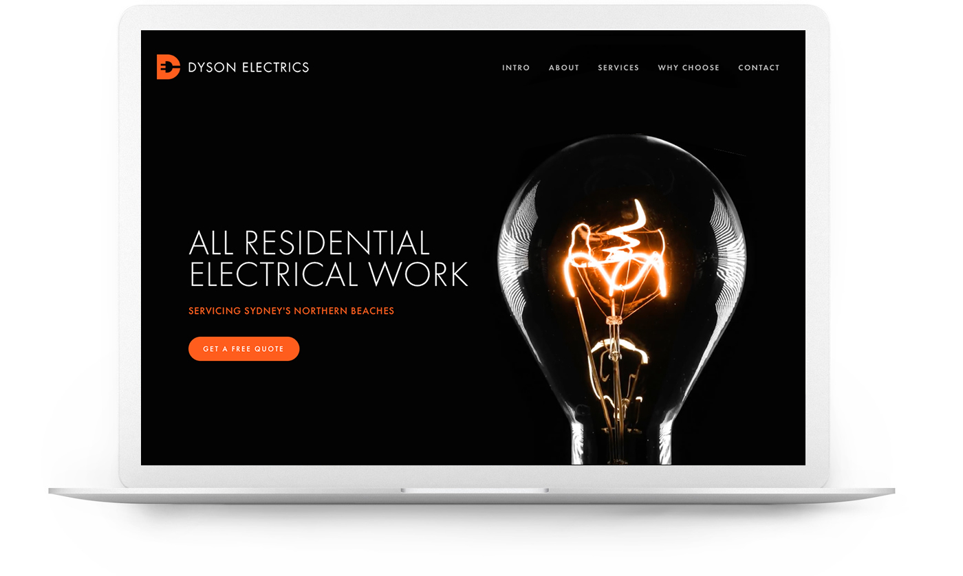Squarespace website example - Tradie
