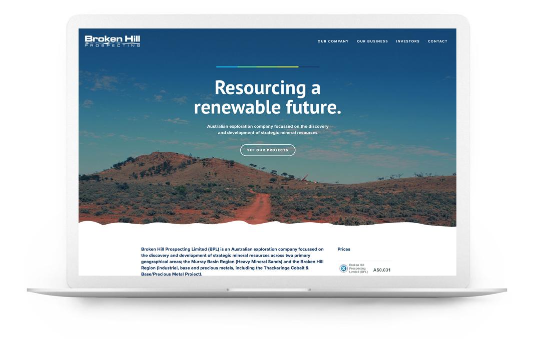 Squarespace website - Broken Hill Prospecting
