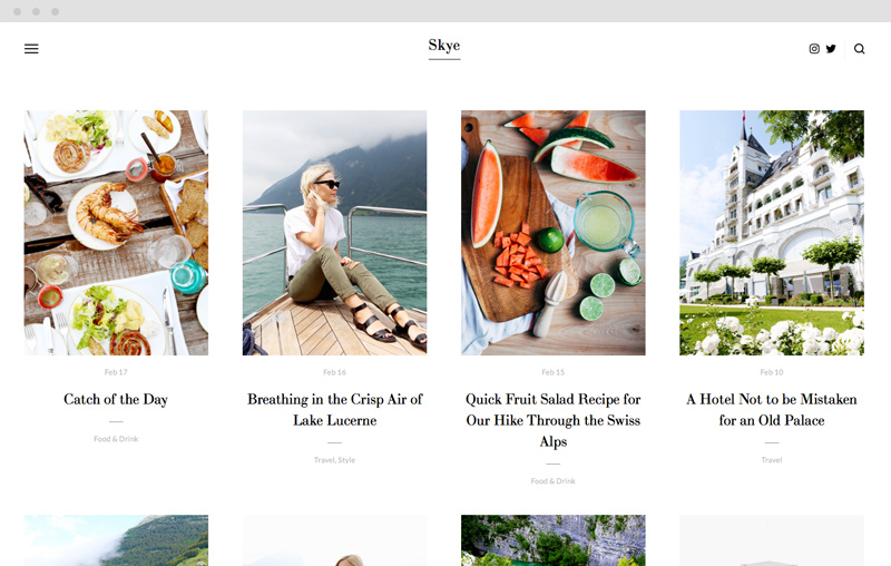 Skye Squarespace blogging template