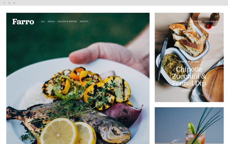 Farro Squarespace blogging template