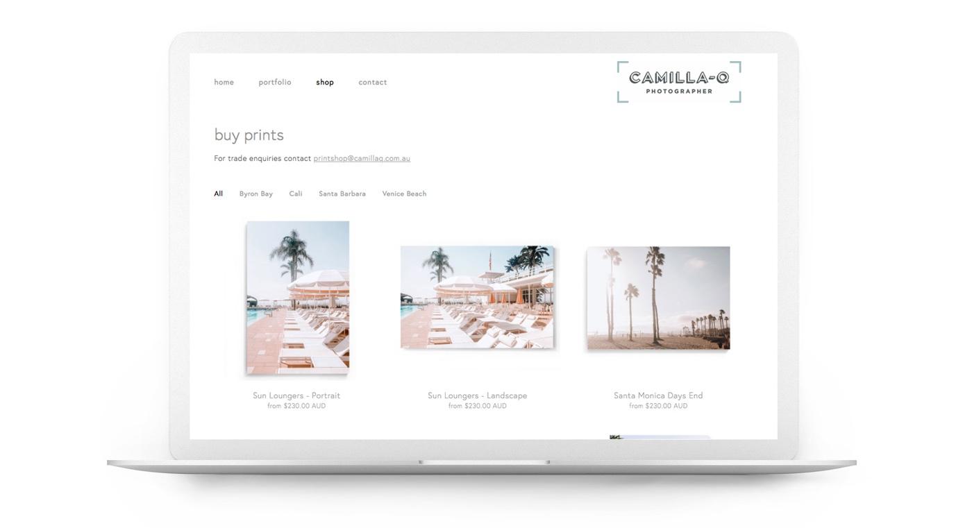 Squarespace website - CamillaQ - Photographer