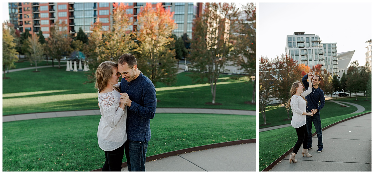 Lauren Baker Photography Gold Medal Park Engagement Photography Minneapolis Minnesota