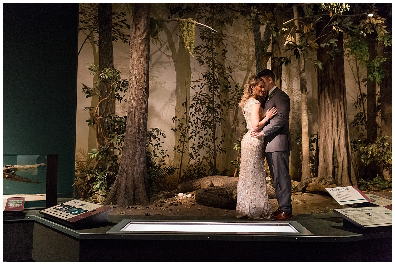 Bride and Groom Lauren Baker Photography Science Museum of Minnesota Wedding Fall Wedding