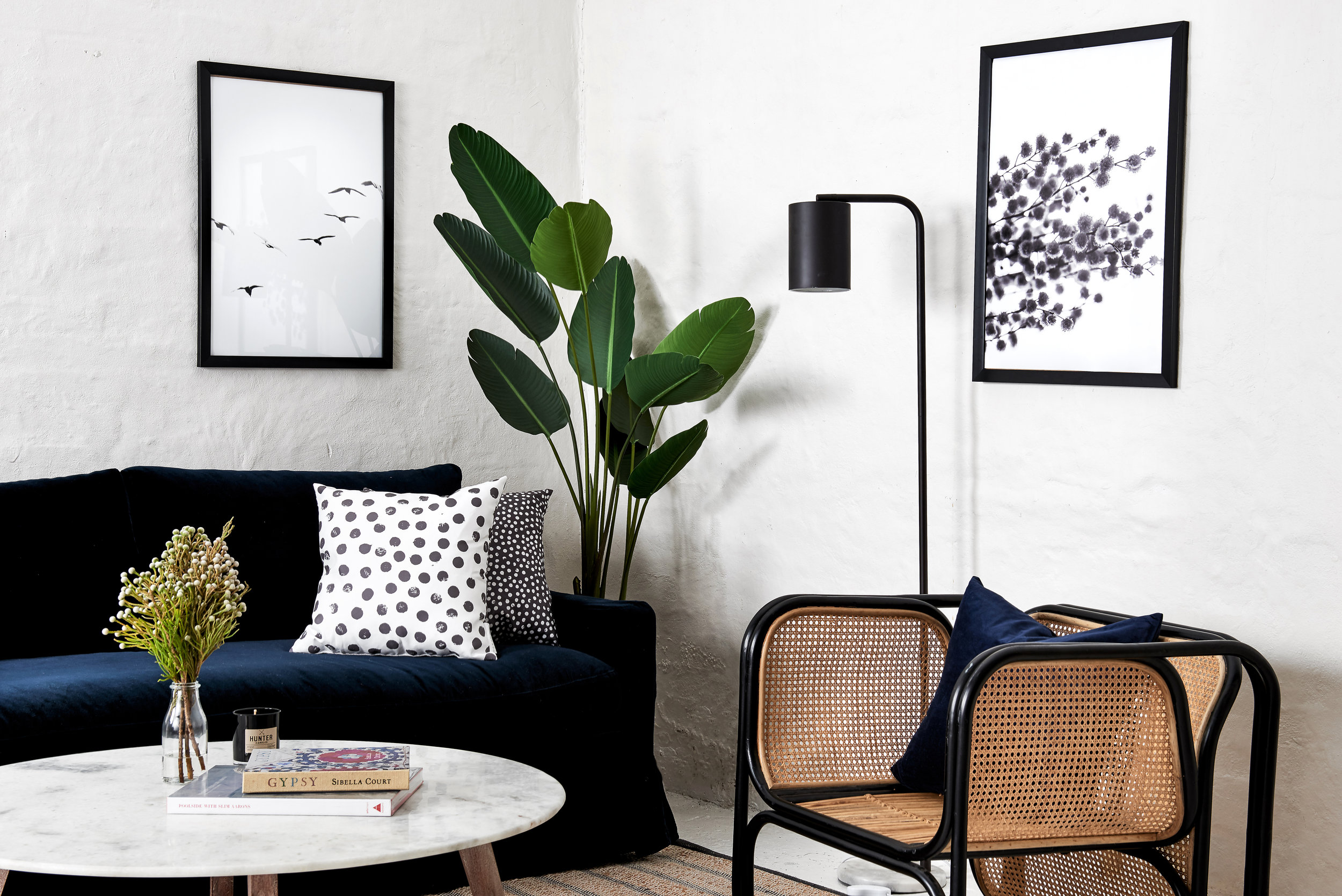 Lounge Room Designed by Hayward & Co. Photography by Ryan Linnegar.