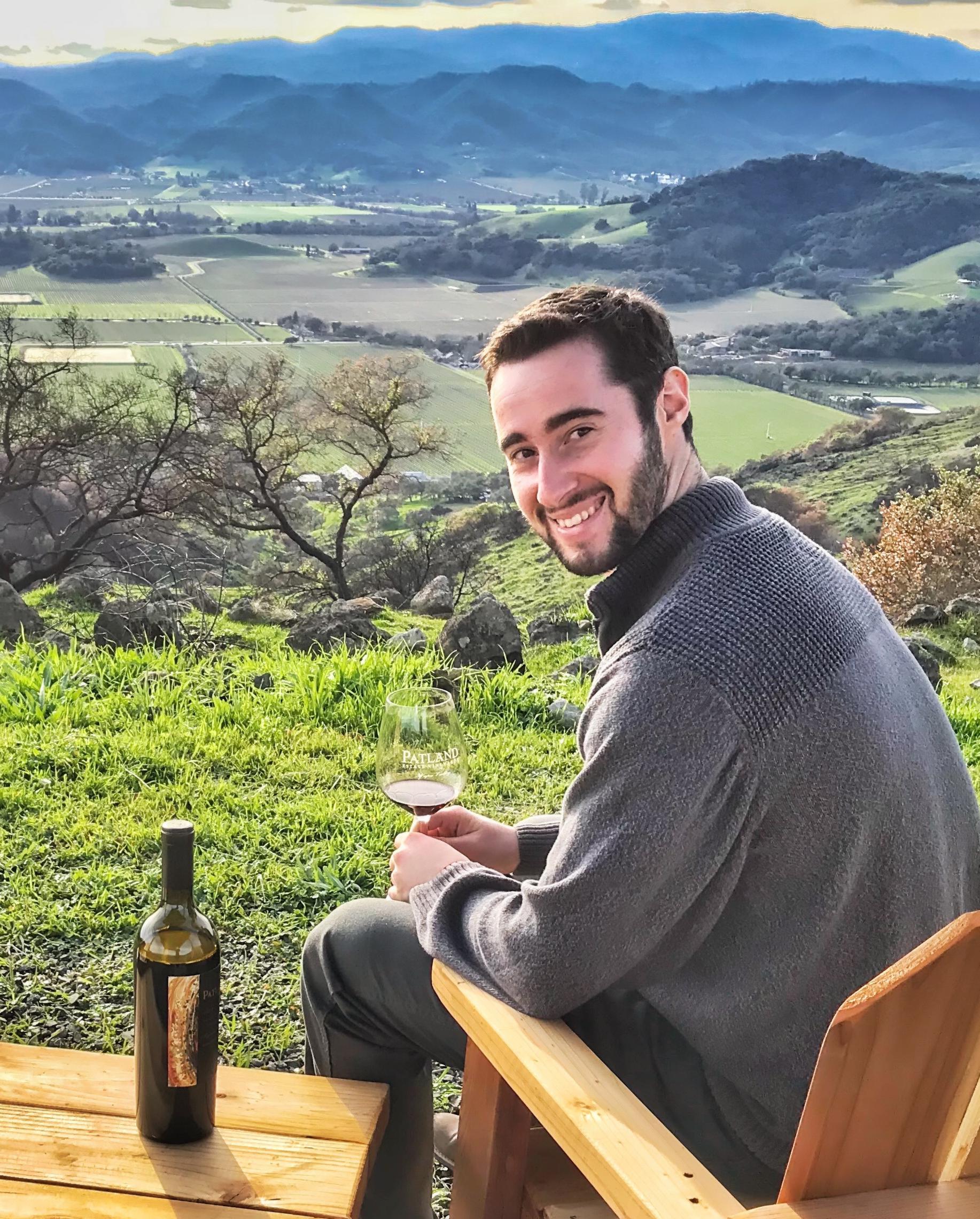 Michael Patland Having Wine