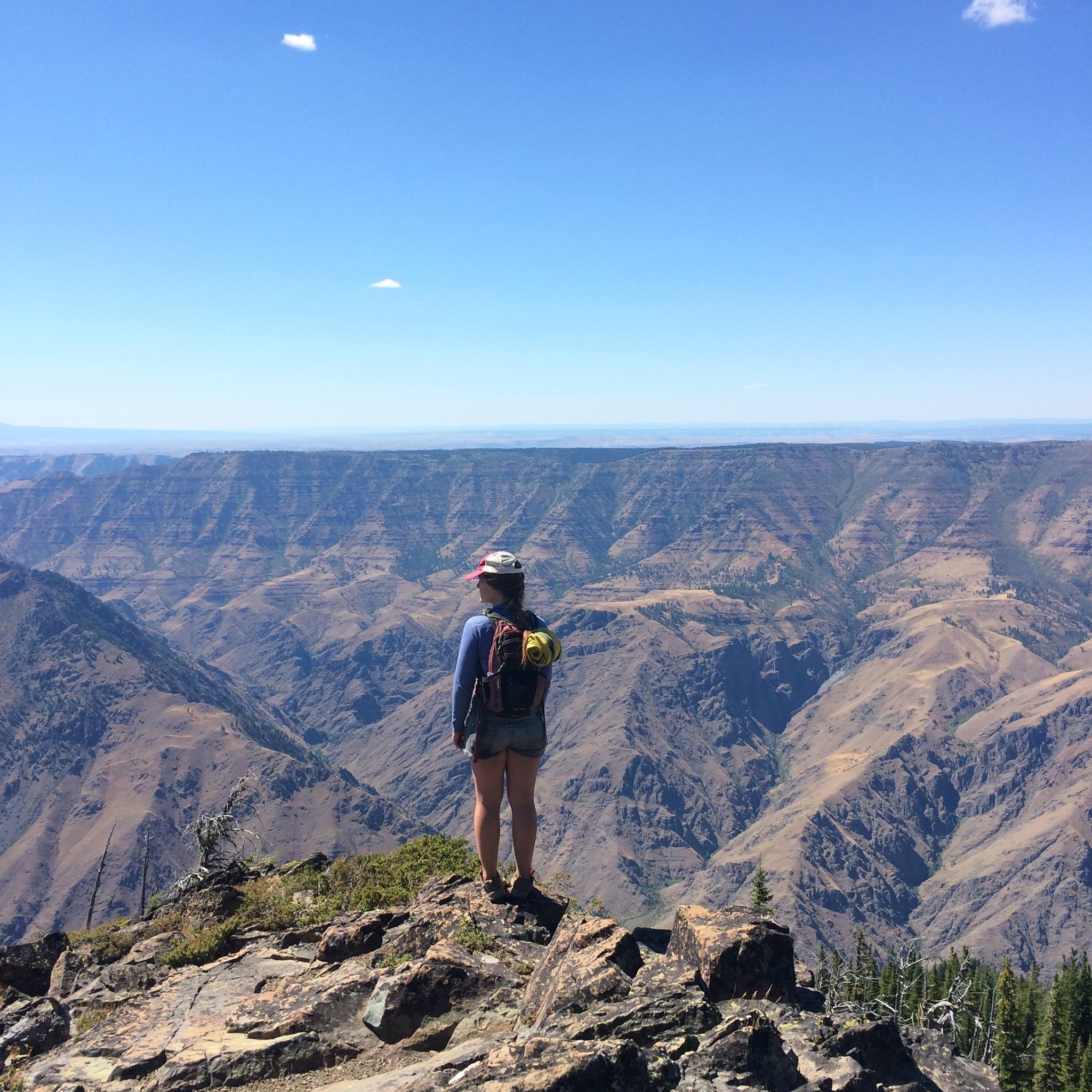 Katie overlooking Hell's Canyon in the Seven Devil's Wilderness.