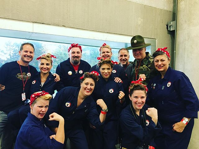 It's always a team effort and we have a wonderful team. Rosie on! .  #rosietheriveter #Rosie #WorldWarII #Costume #TributeRosie #RosieAdetroitherstory #detroitherstory #detroit #book #youngadultbooks #childrensbook #nonfiction #wsupress @wsupress #bookcharacter #womenwarworkers #detroitwoman #reading #author #illistrator #outfit #historicaloutfit #rosietheriveter #writer #instabook #yaauthor  #book #tributerosies #michigan #history #femaleheroes #sheroes