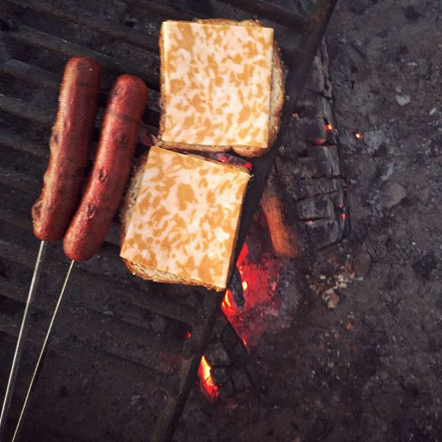 Places I'd rather be  #camping #cooking #greatsanddunes . . . . . #colorhunter #orange #orangecheese #hotdog #campcook #igcamping #nature #travelgram #wander #travelcolorado #campfire