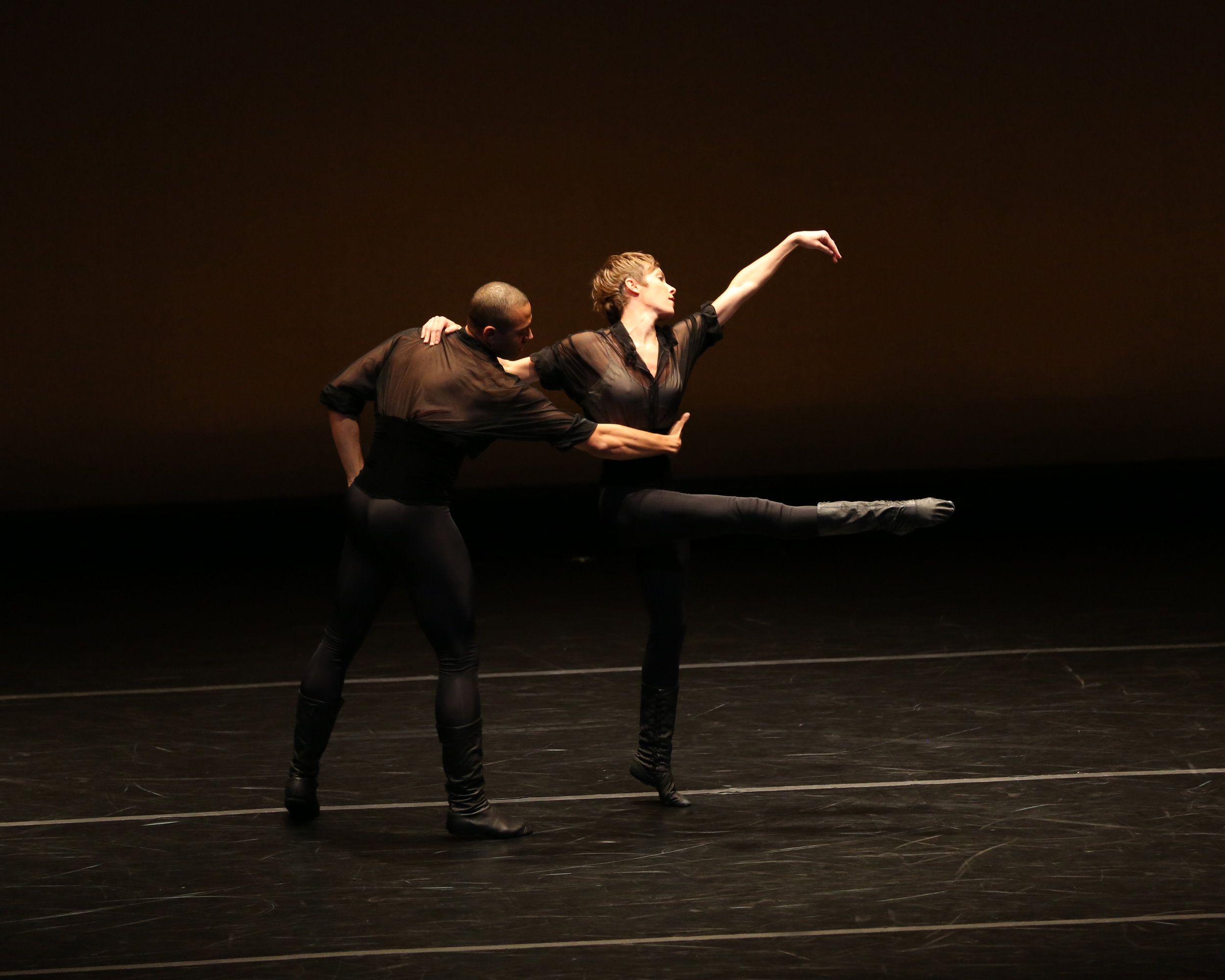 with Clifton Brown in  Legend of Ten, Lar Lubovitch Dance Company.