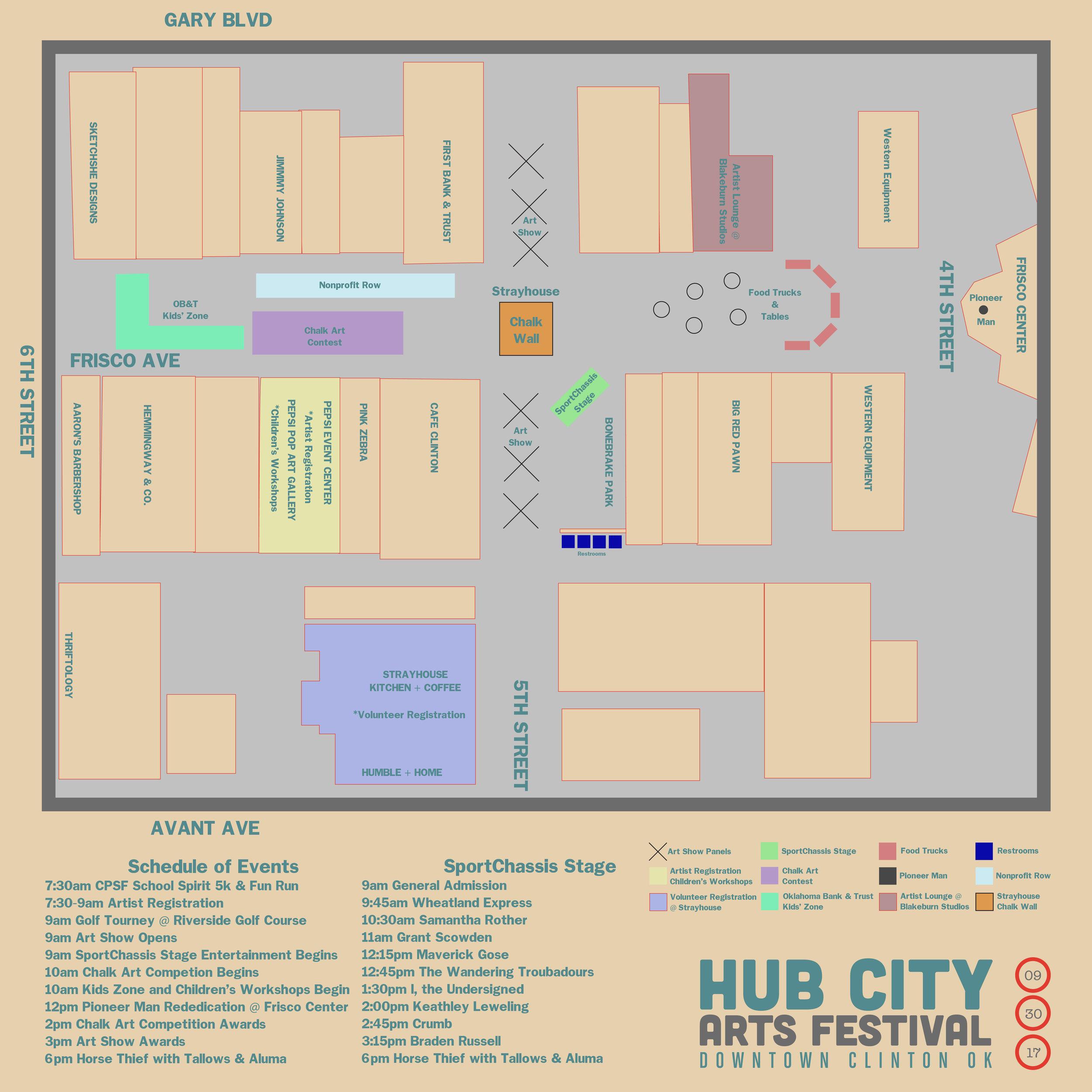 Hub City Arts Festival Map
