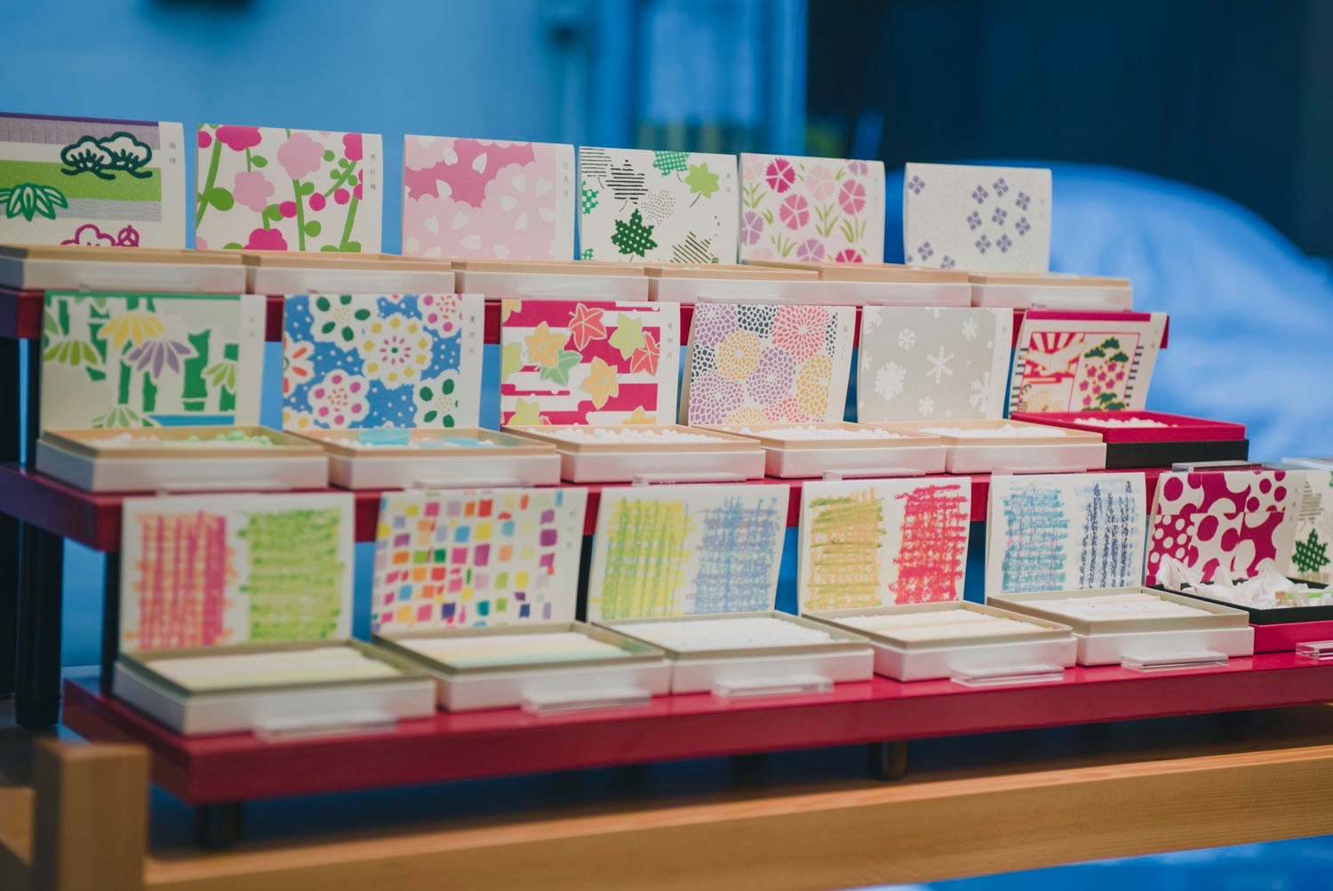 The beautiful boxes for  wagashi  packaging.