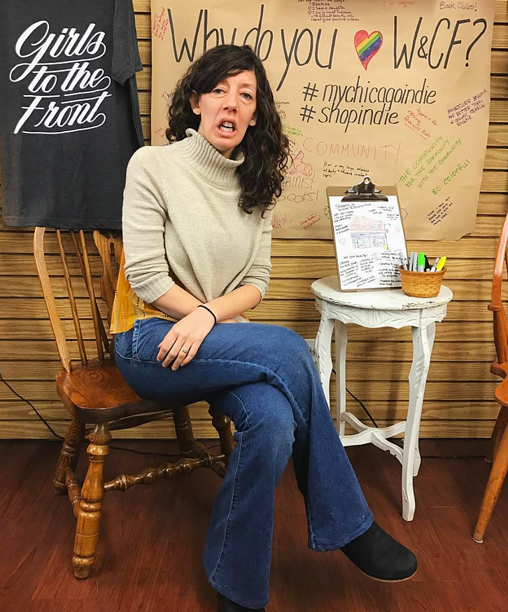 Sarah Hollenbeck Women & Children First Bookstore women-owned