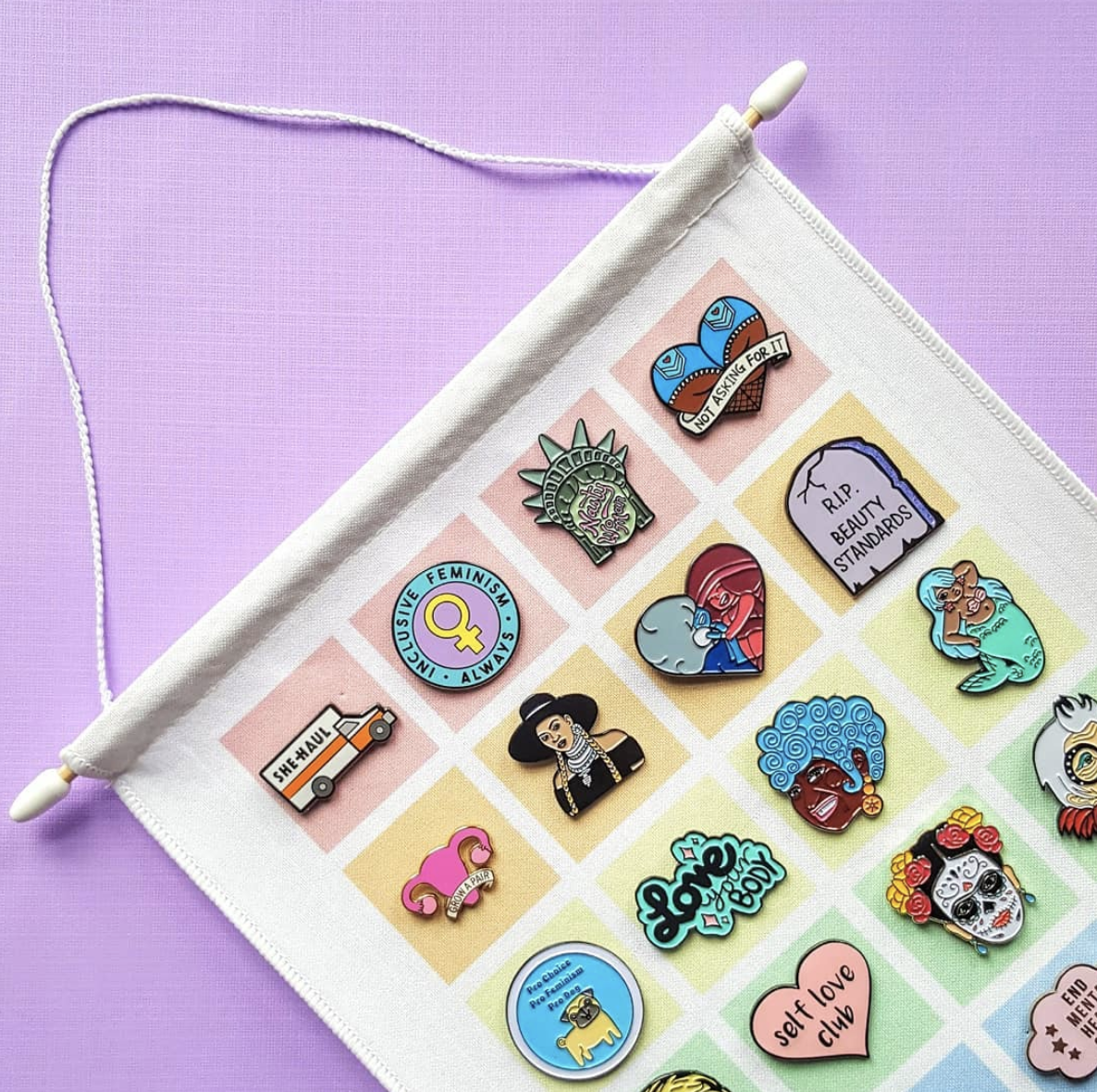 Feminist pins - Curated by the intersectional online gift-shop, Feminist Speakeasy.