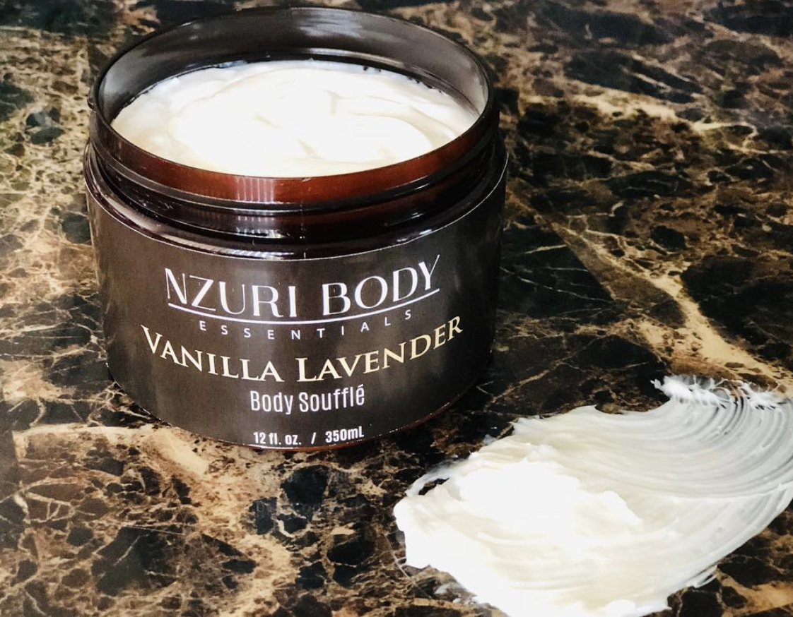 Luxury Body Soufflé - All-natural, cruelty free, and handcrafted by the mother-daughter team at Nzuri Body Essentials.