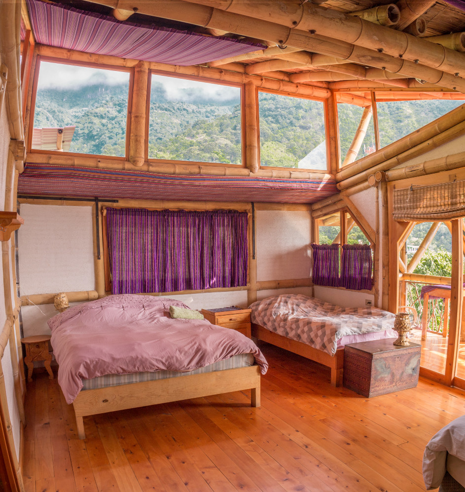 Guest Room at the Bambu Guest House, where participants of Permaculture for the Herbalist's Path will stay during the 26-day Permaculture and herbalistm course. September 26 - October 18, 2019, Lake Atitlan, Guatemala