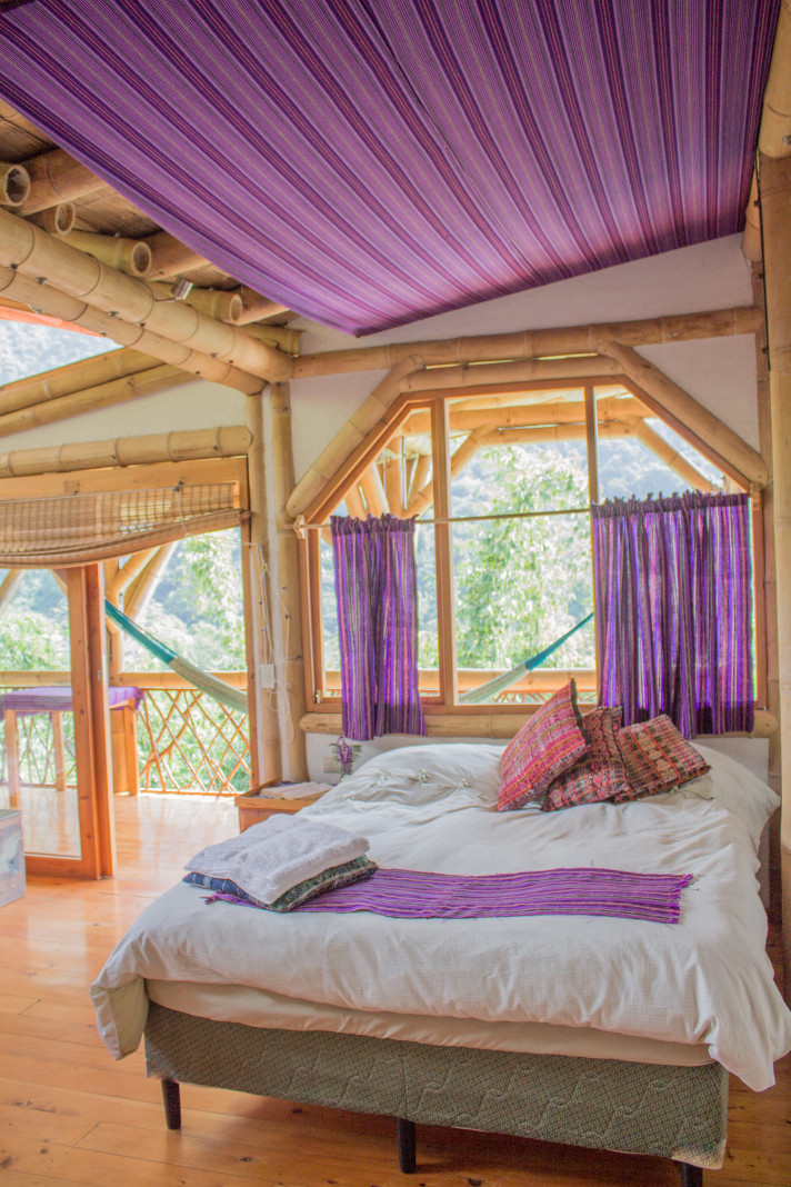 Beautiful room at the Bambu Guest House, where participants will stay during Permaculture for the Herbalist's Path, anthe integrated Permaculture Design Certification and Herbal Studies course at Lake Atitlan, Guatemala September 23 - October 18, 2019