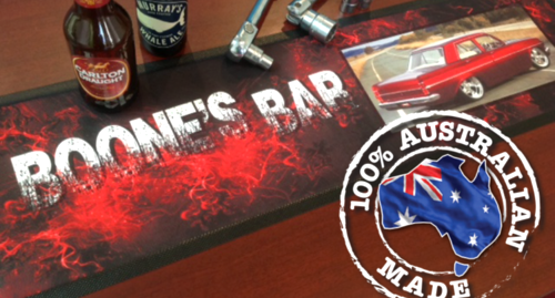 Standout Mats offers unique    Personalised Bar Mats    to go on Dad's bar at home, workshop or 'man cave'.