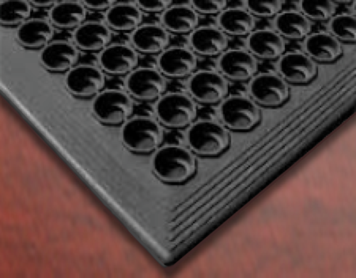 Bevelled Edges & Large Holes   Our  Anti-fatigue Mats  have moulded bevelled edges on all sides for safety, and large holes for maximum drainage.  Contact us  now to get more information and place an order.