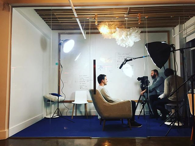 Film crew on site, whattanight! 🎥💡 #tesimonials #agilepeople #tech #canada #creatives #coaching #onthemic #peopledevelopment #value #media #bctech #eventbase #leadership