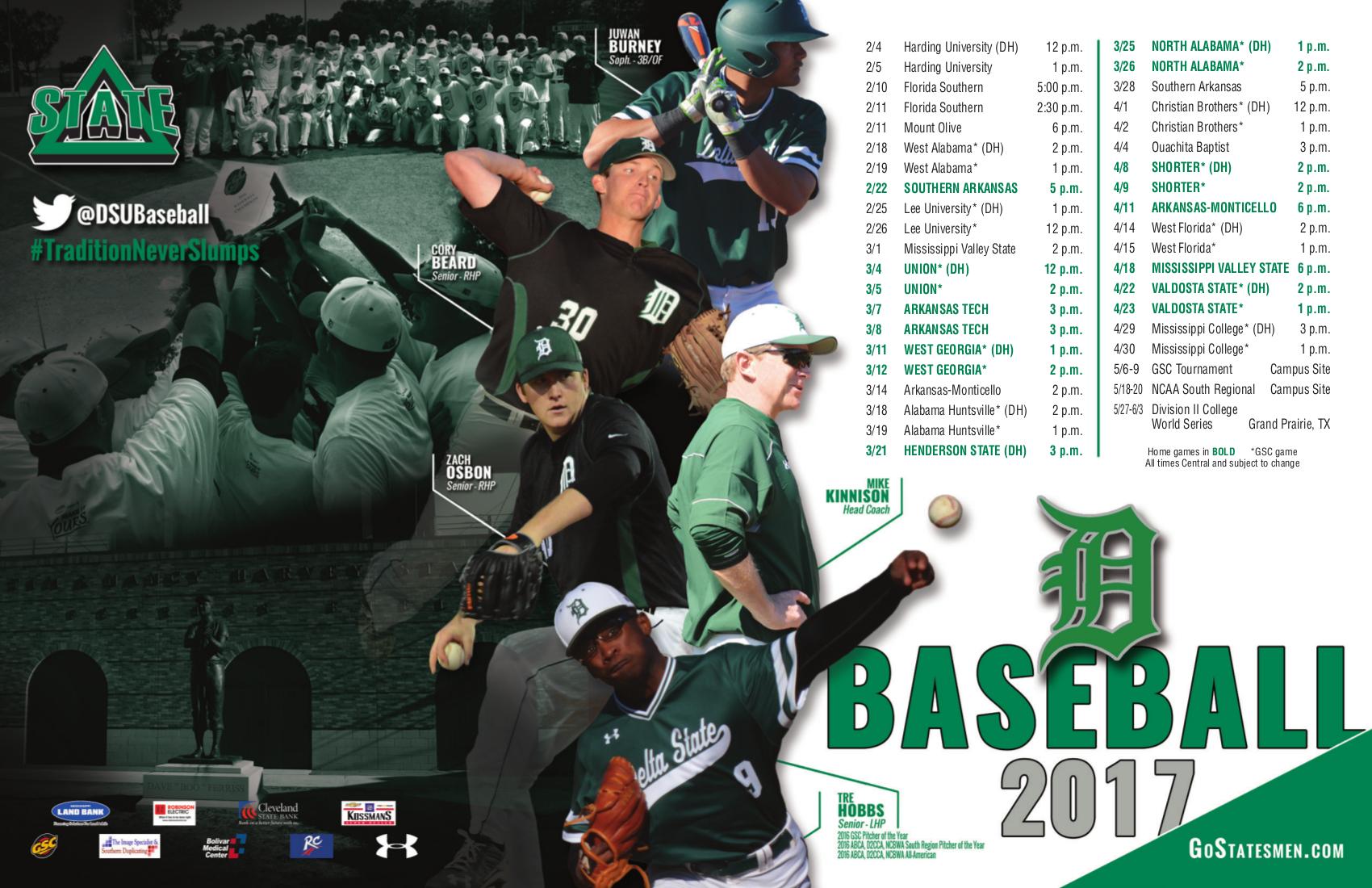 Delta State Baseball Sport Poster