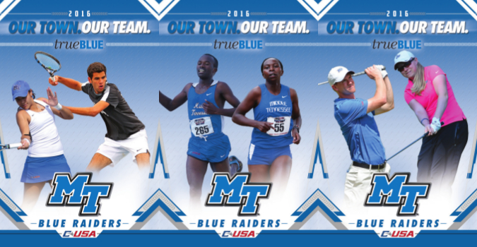 Middle Tennessee Sport Schedule Card