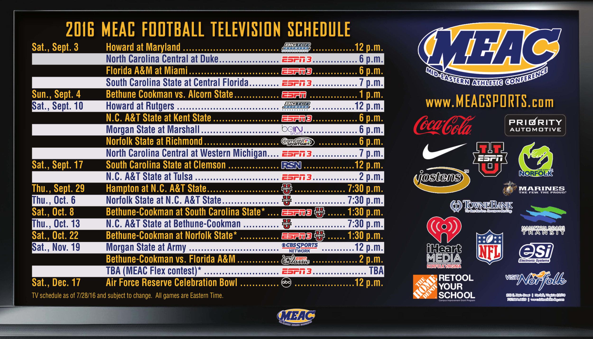 MEAC Football Sport Magnet