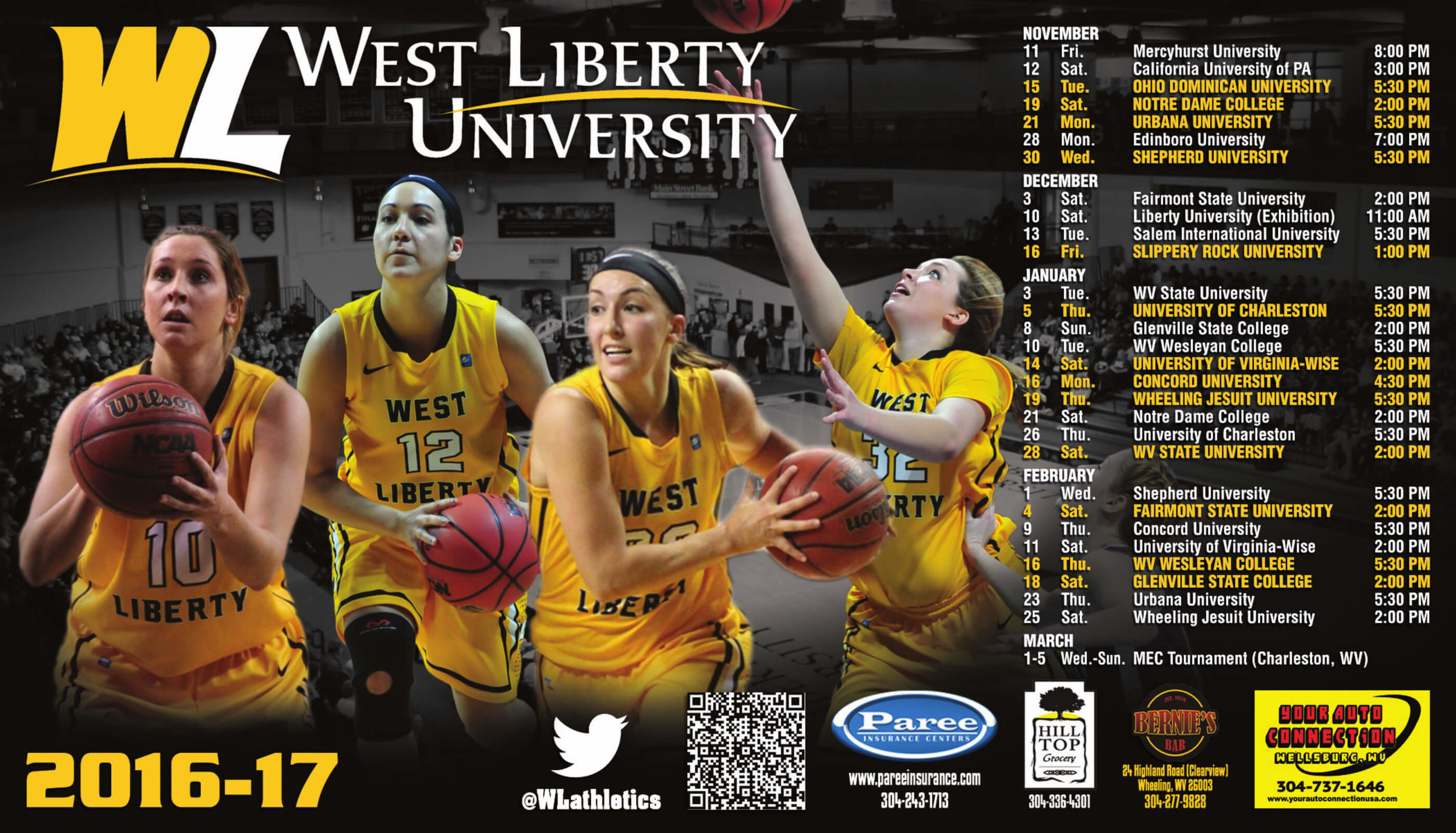 West Liberty Basketball Sport Magnet