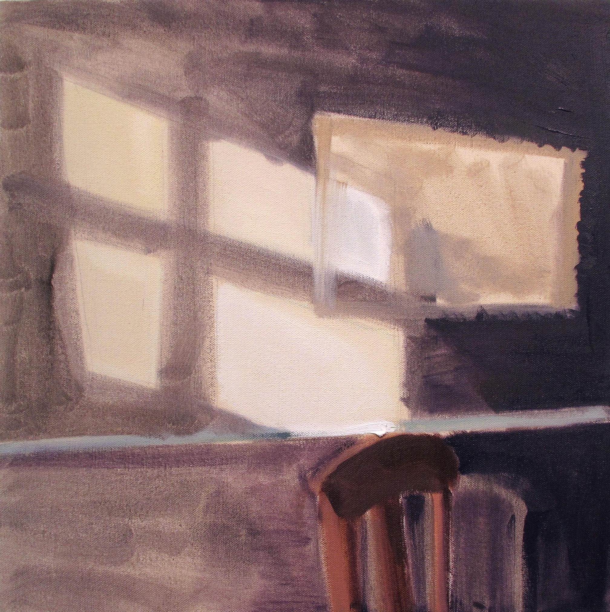 "16"" x 16""  oil on canvas"