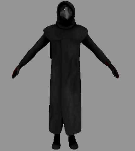 A character model from an actual video game.
