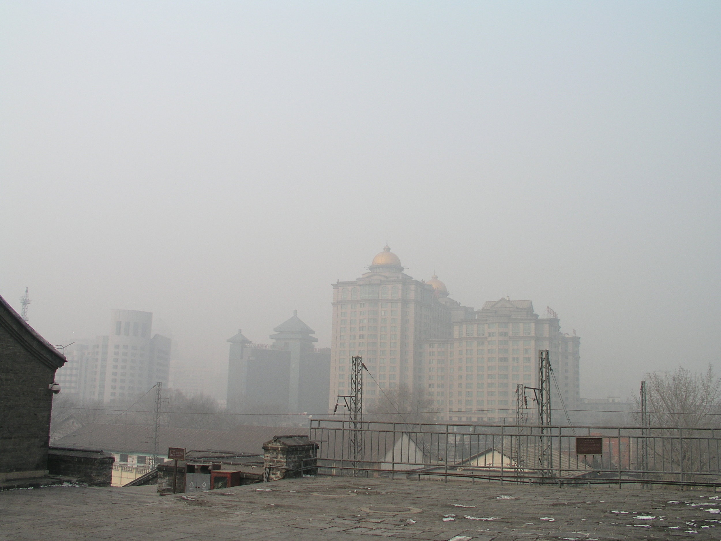 This is not fog. It is midday Beijing pollution.JPG