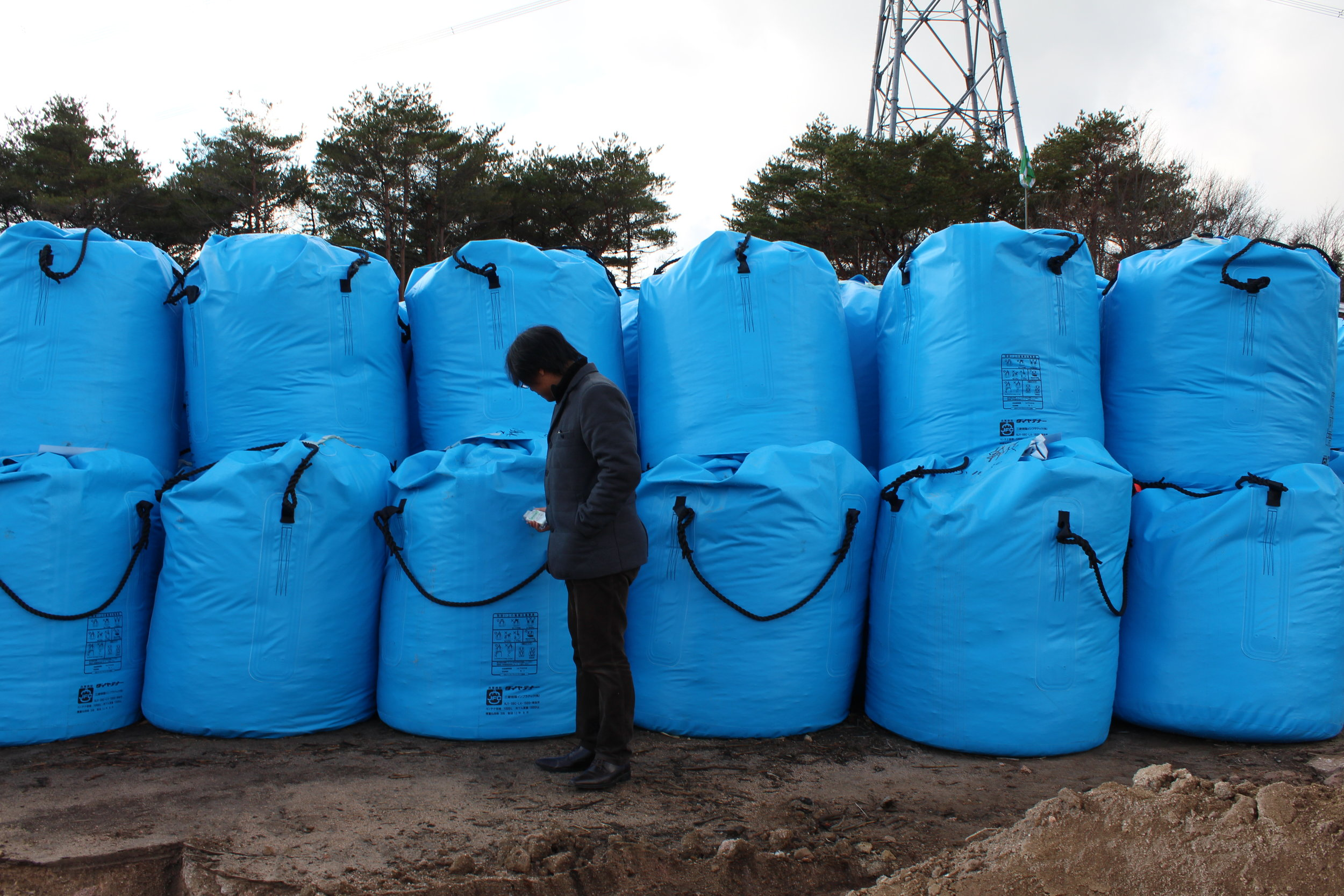 Bags of radioative waste awaiting some final, safe resting place.3.JPG