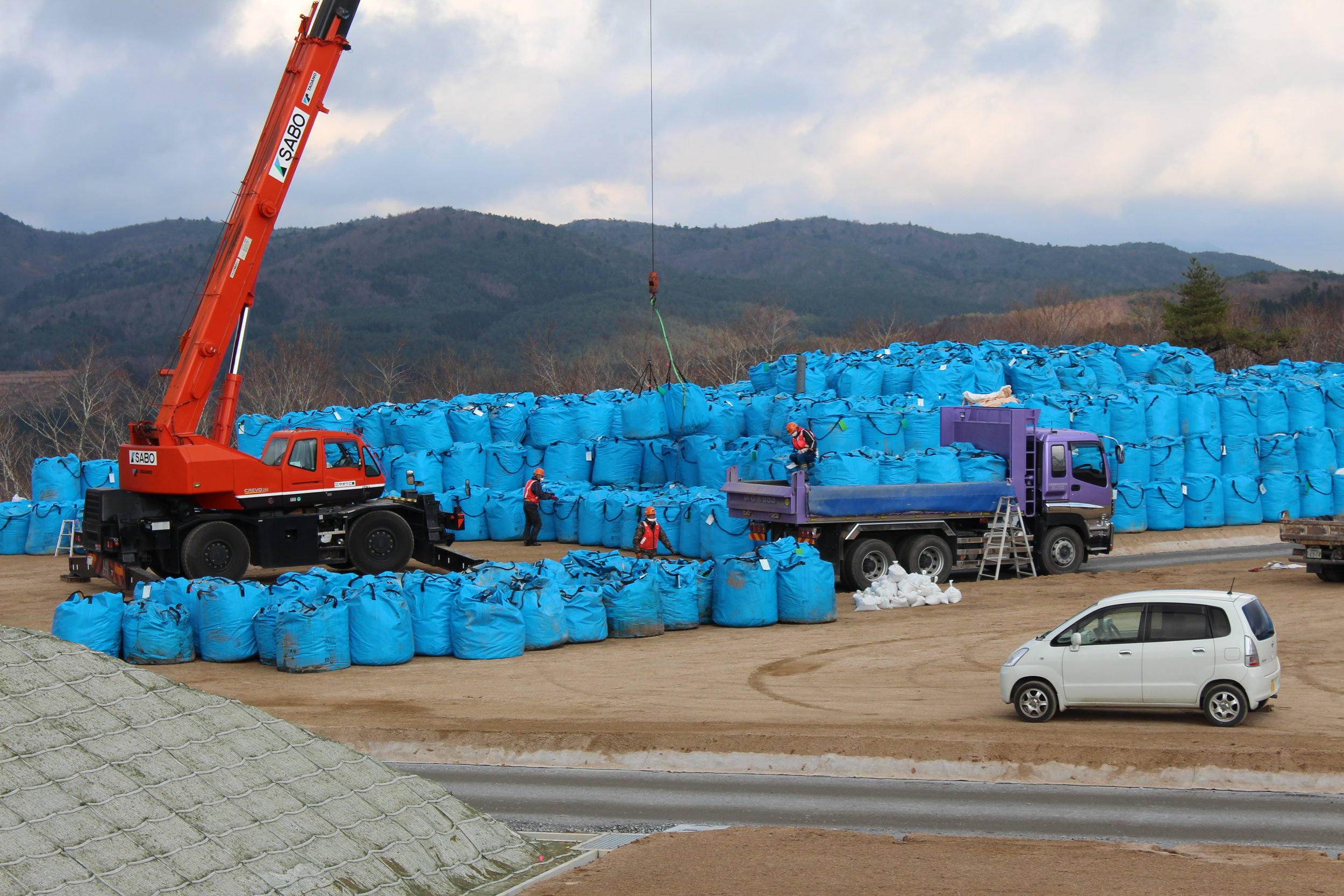 Bags of radioative waste awaiting some final, safe resting place.7.JPG