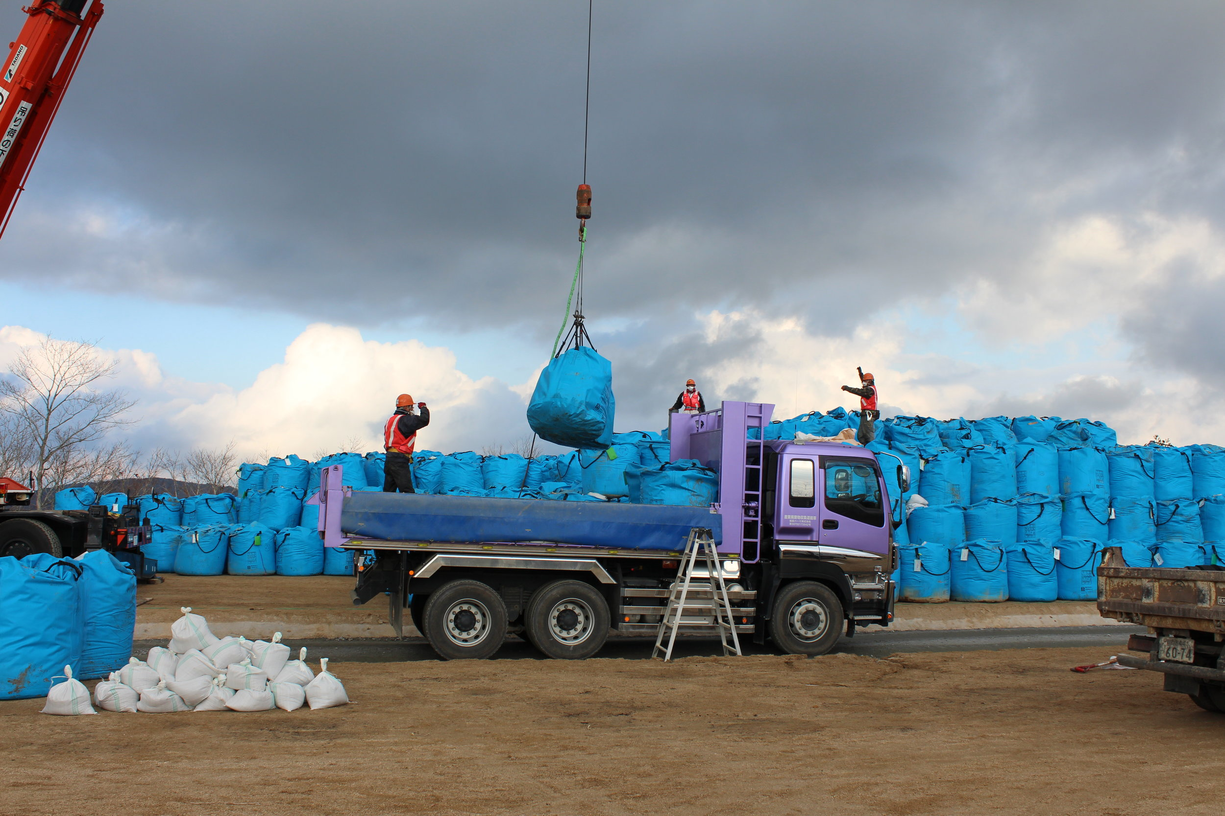 Bags of radioative waste awaiting some final, safe resting place.8.JPG