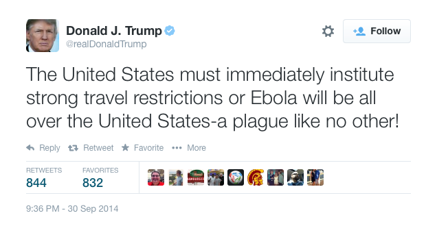 In 2014 Citizen Trump opposed allowing Ebola-infected health workers to come to USA.4.png