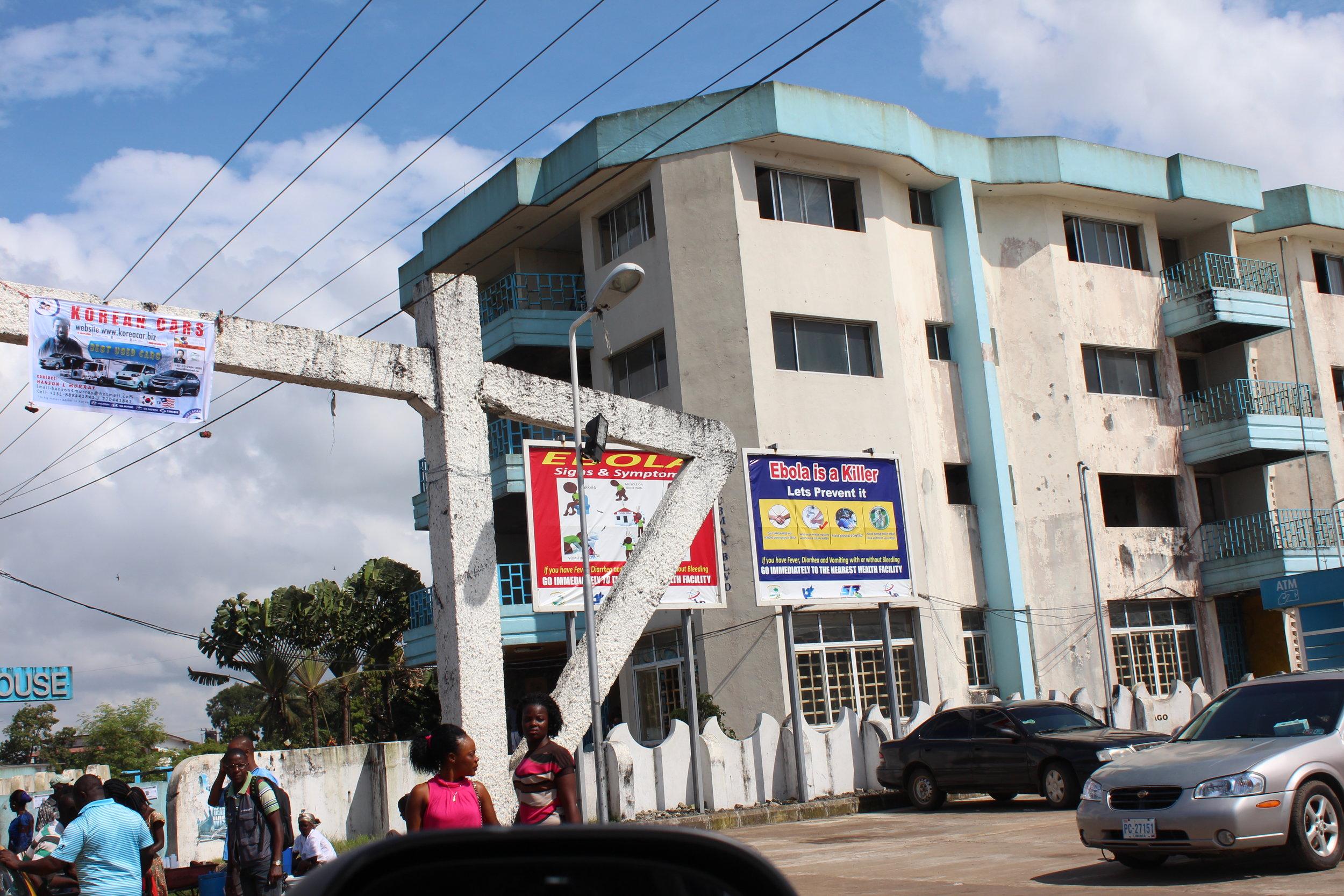 Ebola street sign.10.JPG