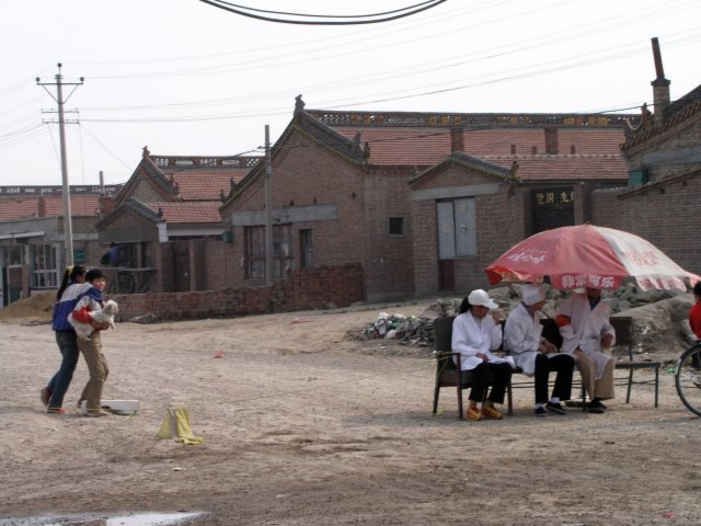 Across the country villagers set up quarantines.