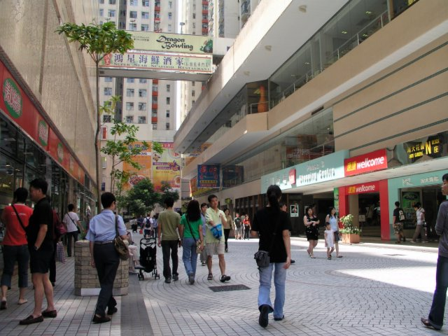 Amoy Gardens shopping mall, where SARS incidence was especially high.jpg