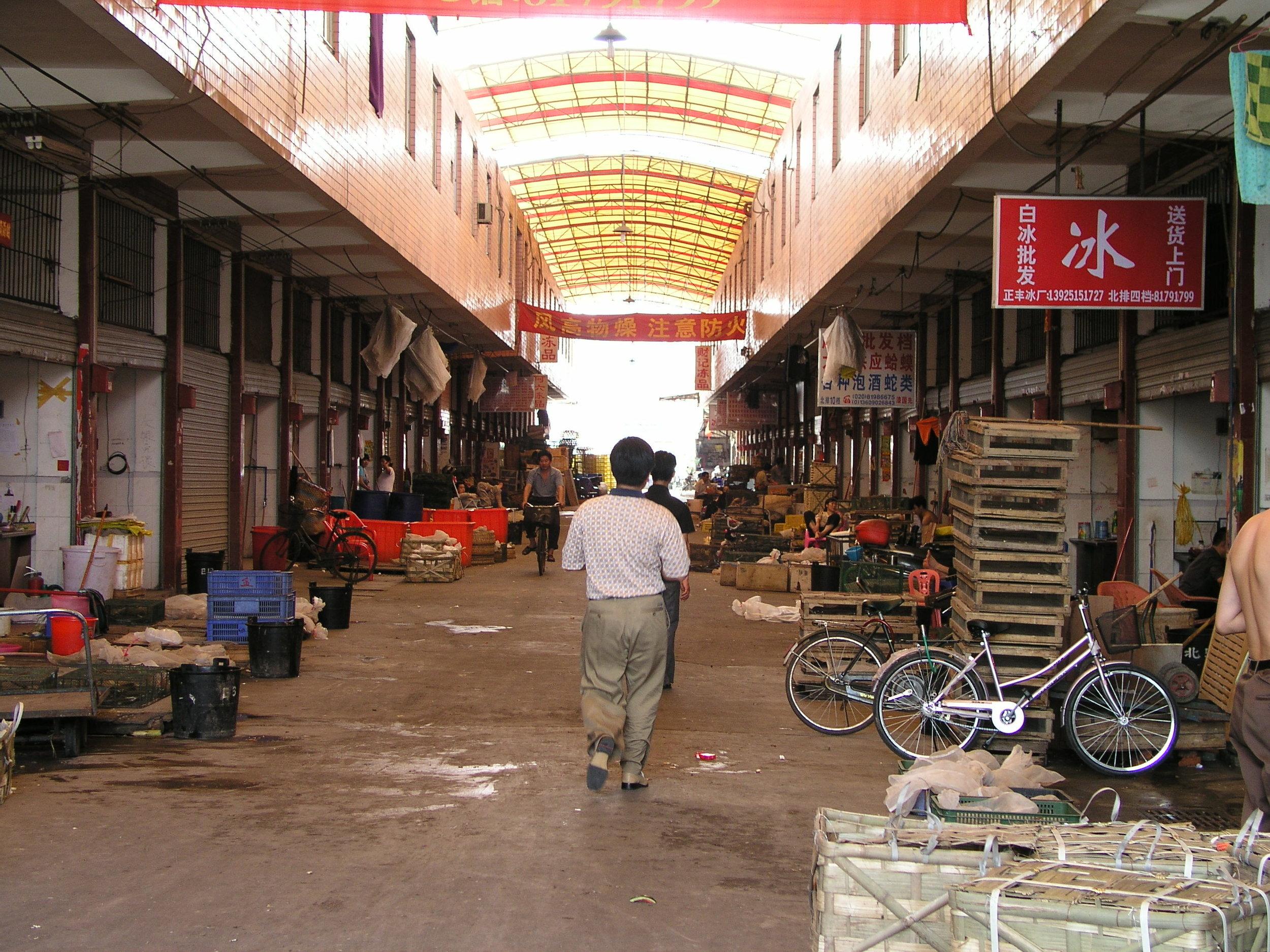 Chau Tau Market in Guangzhou where the SARS epidemic started from live civets .1.JPG