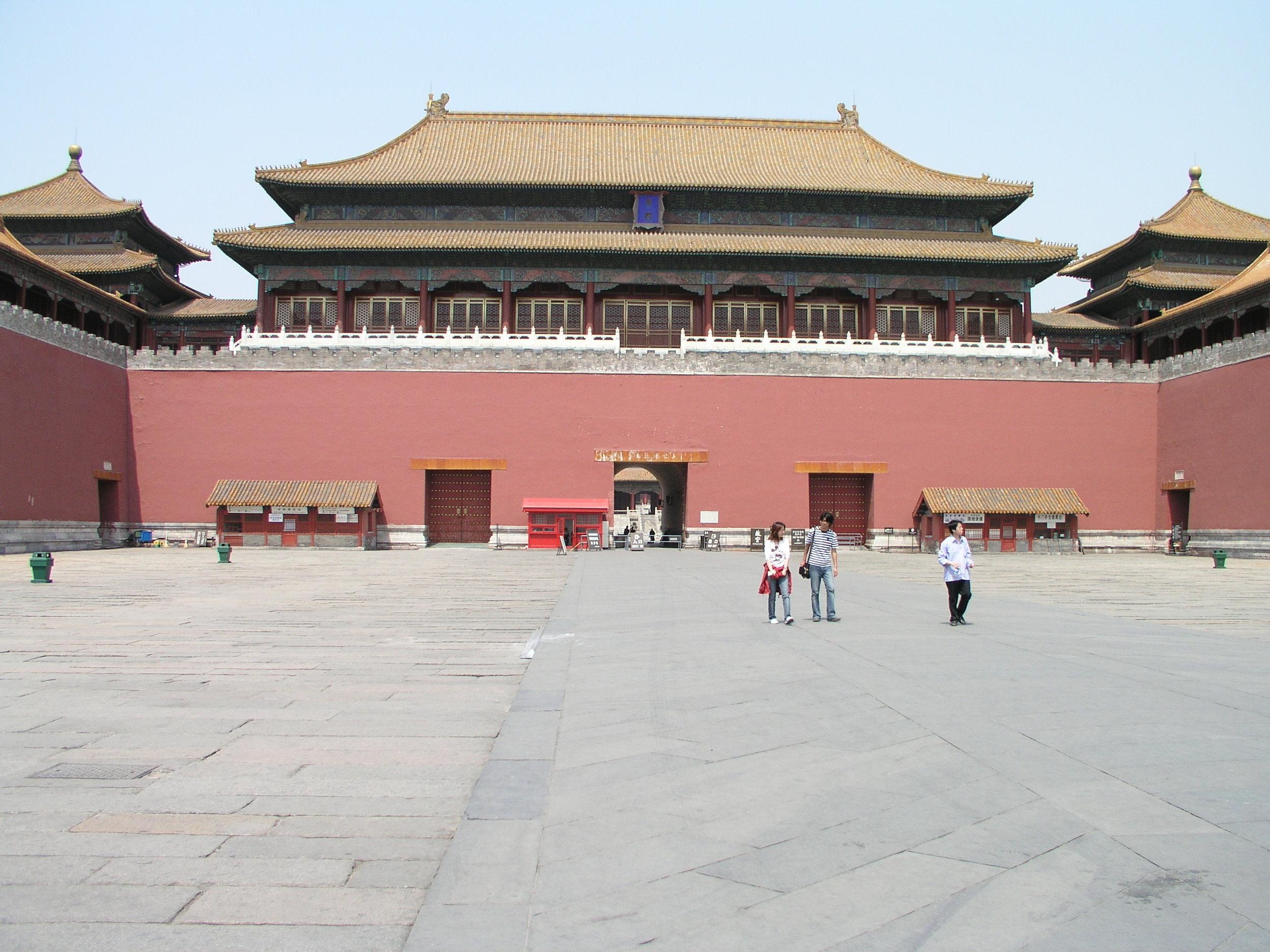 Nearly empty Forbidden City amid SARS.1.JPG