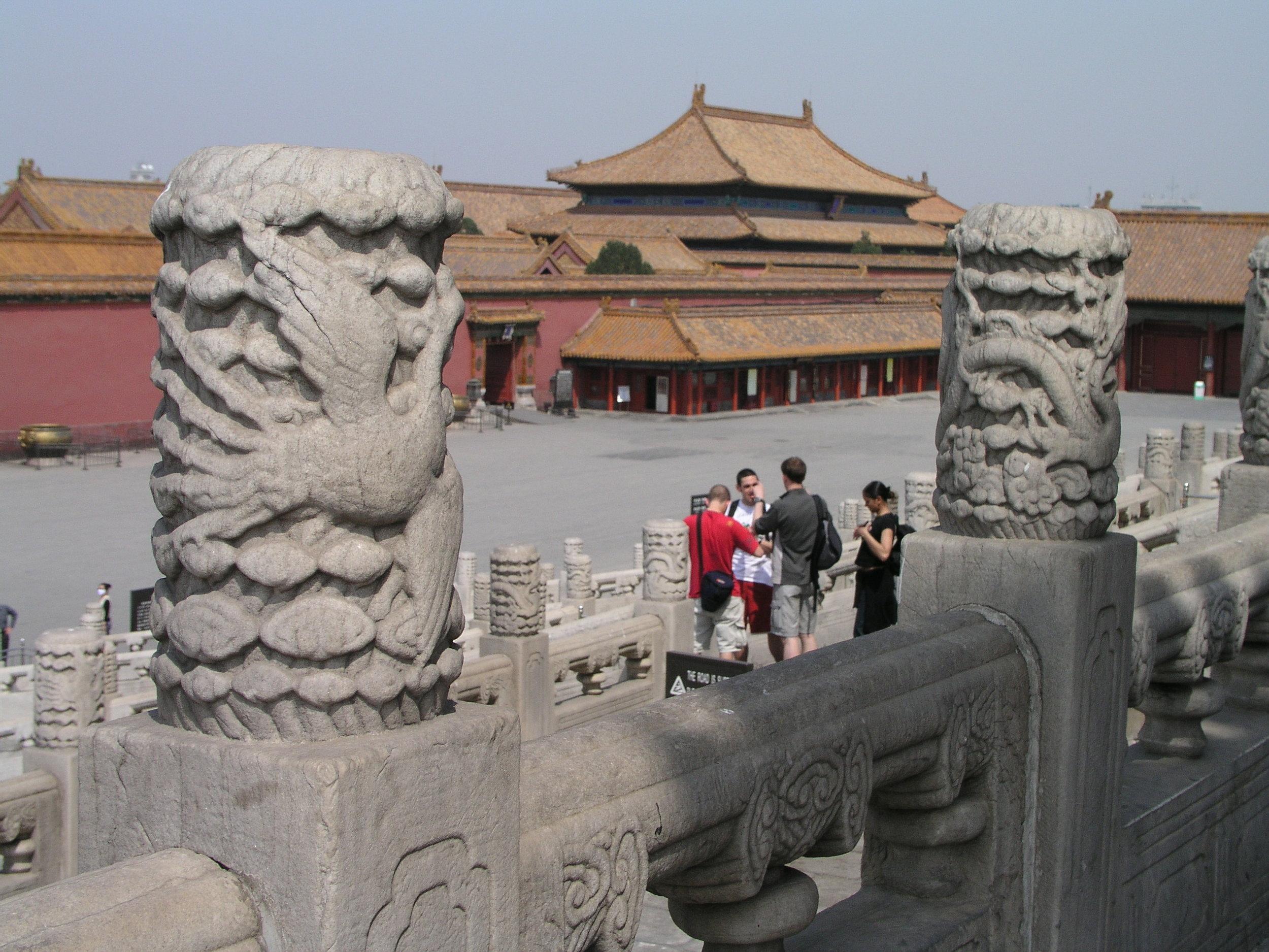 Nearly empty Forbidden City amid SARS.5.JPG
