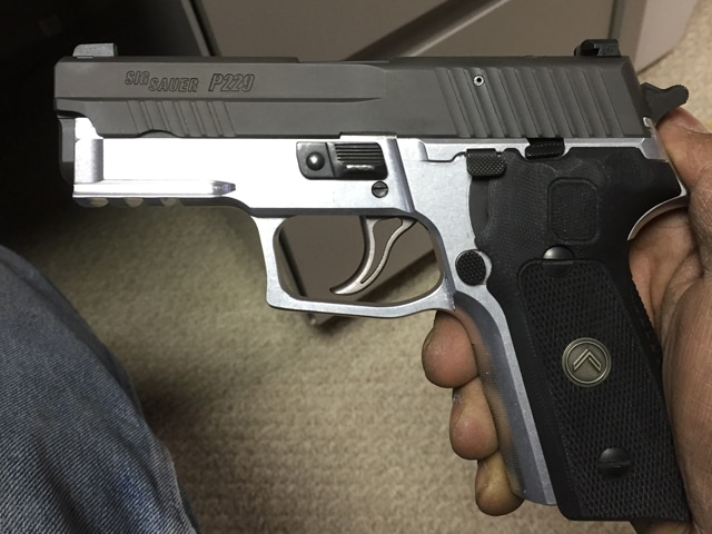 P229 legion slide and grips on your frame before sending for color-matched Cerakote by MSG limited