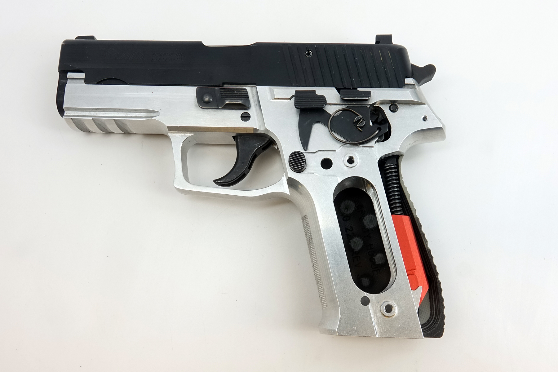 I like the longer grip of the 226 a lot. I think this is the route I am going to go for my personal collection, P226 frame and 229 slide so all my parts will be interchangeable with my 229s except the locking insert and hammer stop. I can use 226 mags in both.