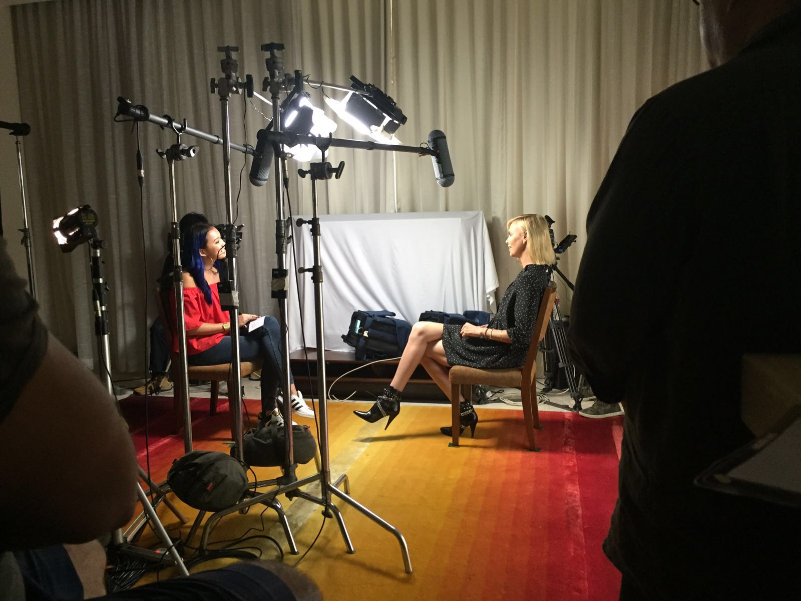 Interviewing Charlize Theron